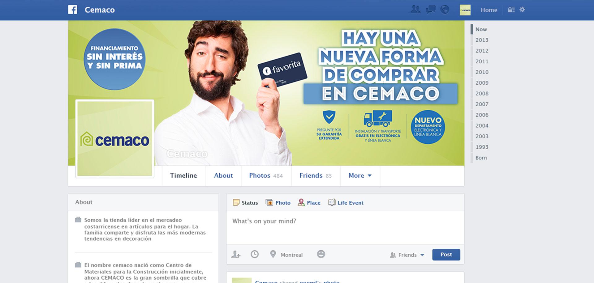 Campaña para presentación de la Tarjeta Favorita de Cemaco Costa Rica
